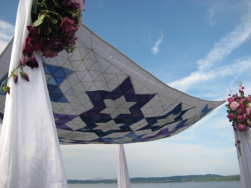 Hand Made Wedding Canopy Chuppah by Groom's Mom - Beautiful!