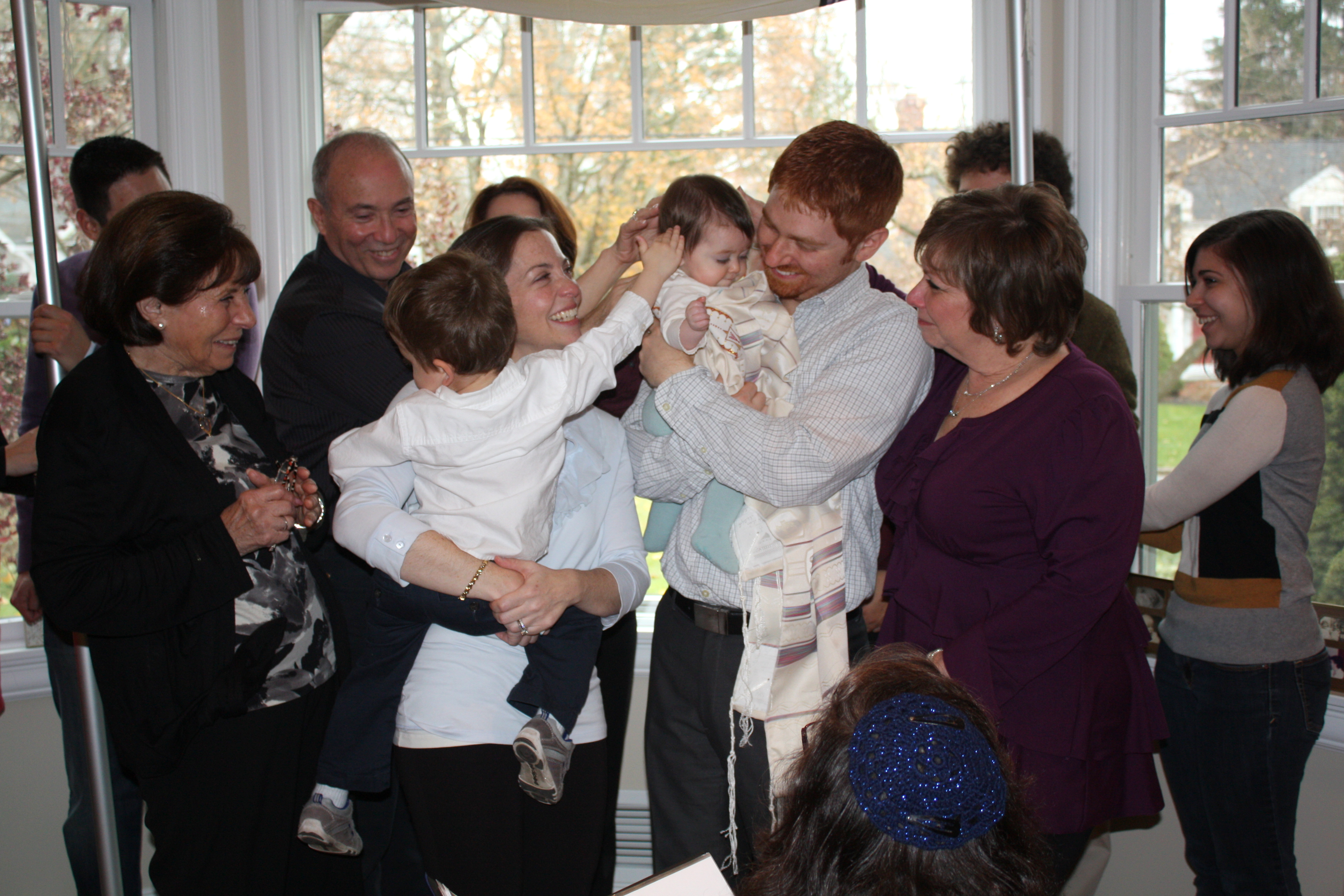 Baby Naming Ceremony surrounded by family