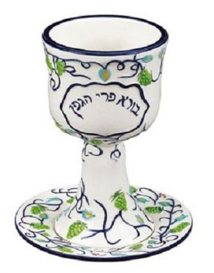 Tree of Life Green Kiddush Cup
