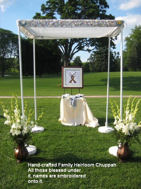 Hand-Made-Family-Chuppah-Heirloom & Jewish Wedding Canopy - Chuppah u2013 Ceremony to Heirloom Generation