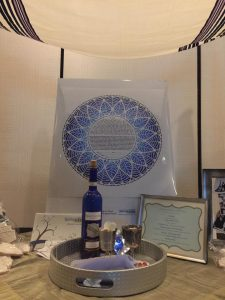 Chuppah Wedding Canopy, the Wine, 2 Kiddush Cups, Breaking Glass