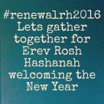 #renewalrh2016 Rosh Hashanah