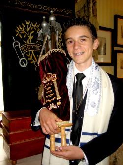 bar mitzvah student