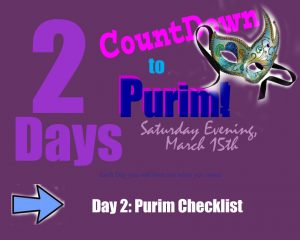 Purim Checklist - Day 2 of the Countdown