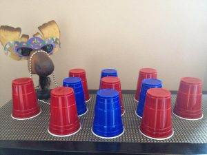 Purim Carnival Ideas - Beat-the-Clock-Solo-Cups-Message-to-Esther
