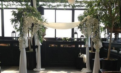 A Rooftop Garden Jewish Wedding Ceremony