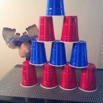 Purim Carnival Ideas - knock the solo cups haman hat