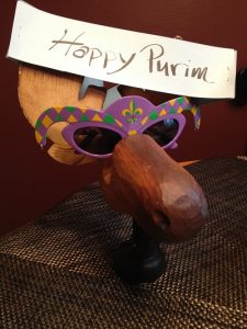purim costumes ideas - Mr. Moose showing how cool he is