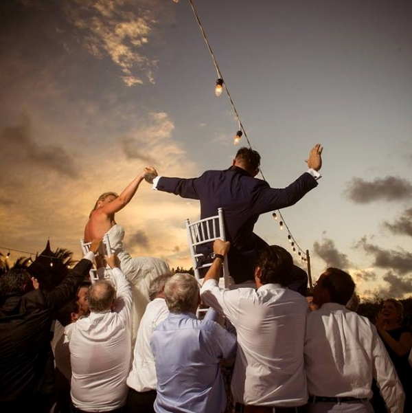 Chair Raising of the Bride and Groom